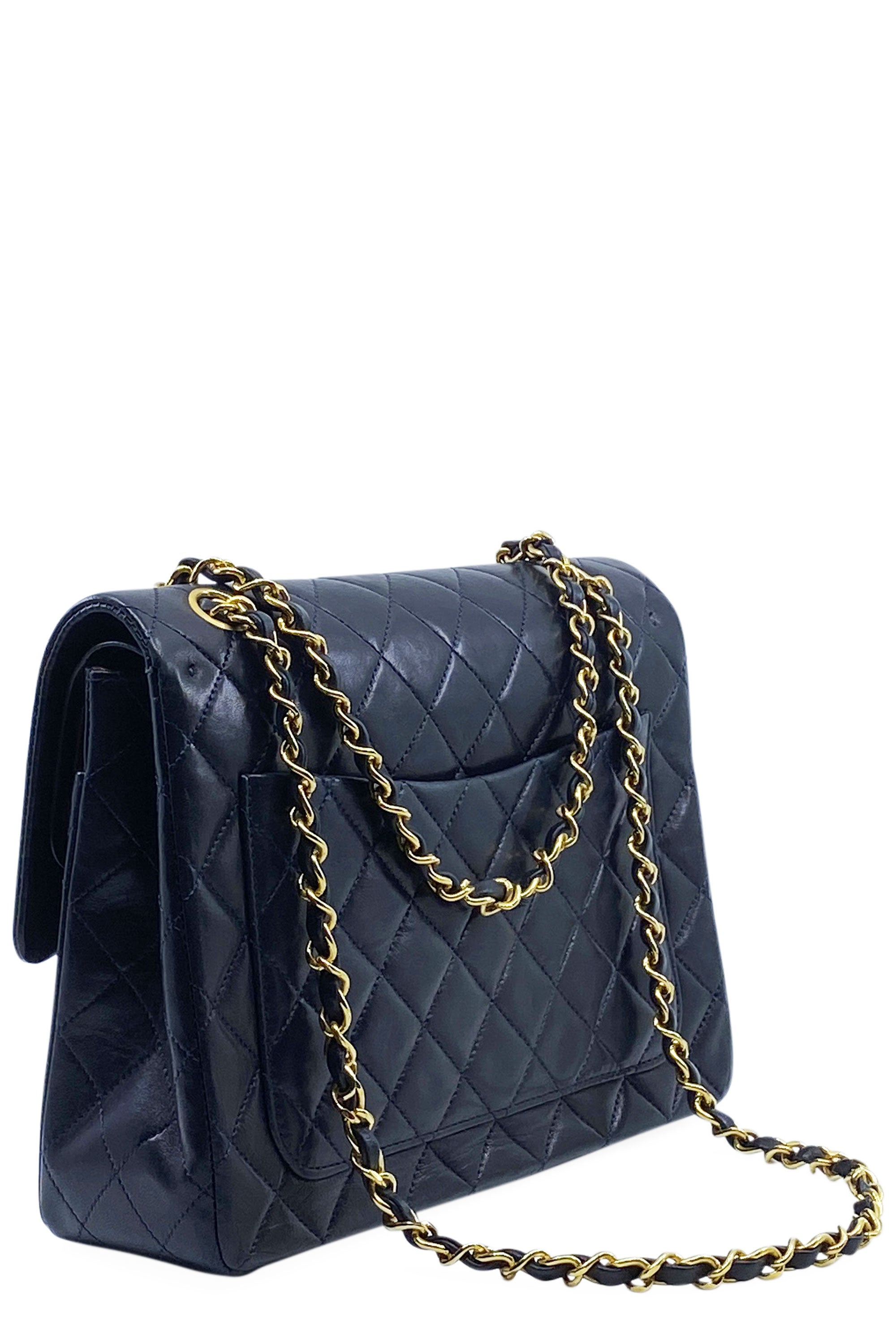 CHANEL Vintage Double Flap Bag Nightblue Square