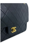 CHANEL Vintage Coco Black Medium Double Flap Bag