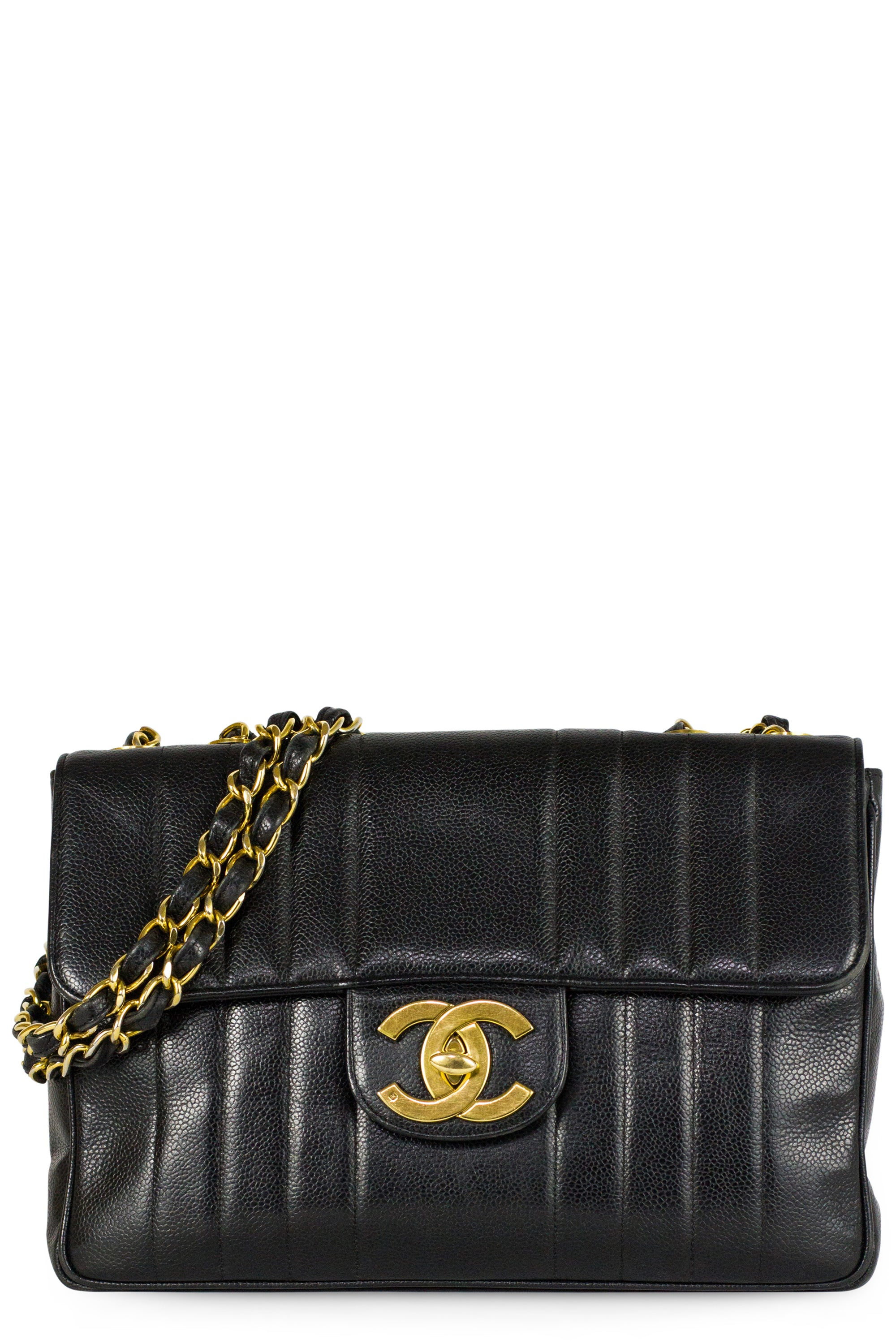 Vintage Chanel Jumbo CC Caviar Leather Bag