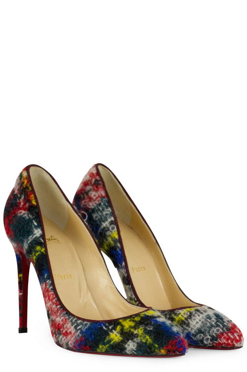 CHRISTIAN LOUBOUTIN Pigalle Follies Scottish Bouclette Pumps