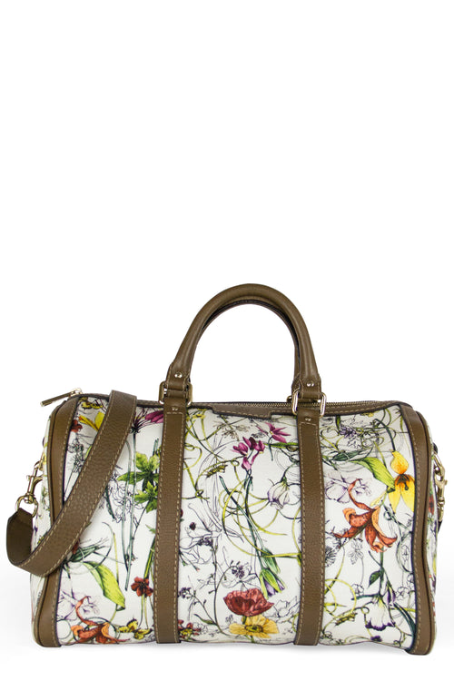 Limited Edition Gucci Floral Canvas Boston Bag Frontansicht