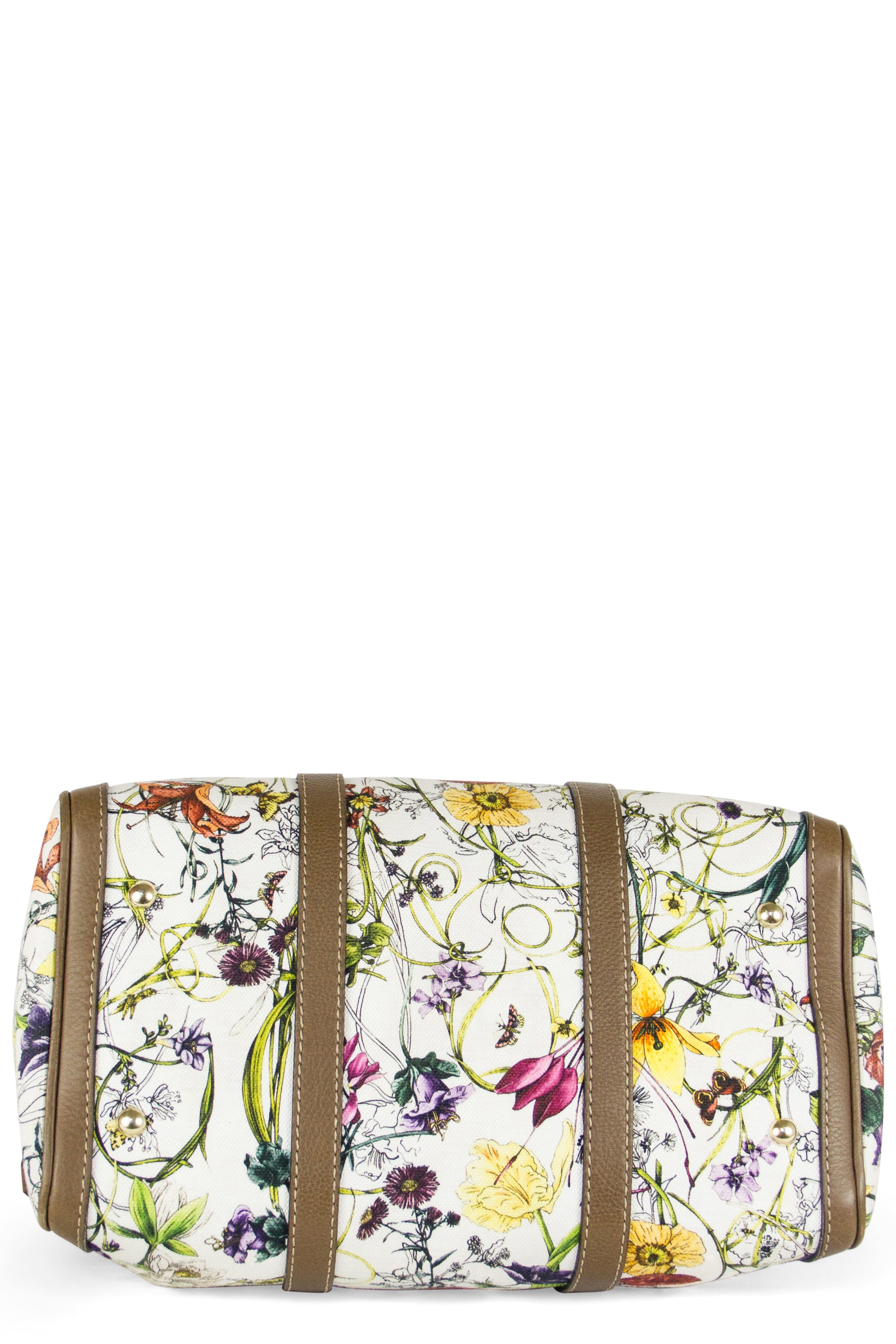 GUCCI Floral Boston Bag