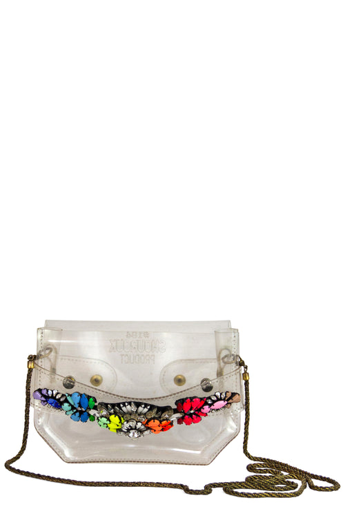 Shourouk PVC Clutch Mini Bag Rainbow #184 Frontansicht