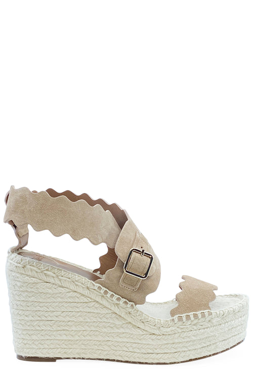 CHLOÉ Wedges Suede Powder
