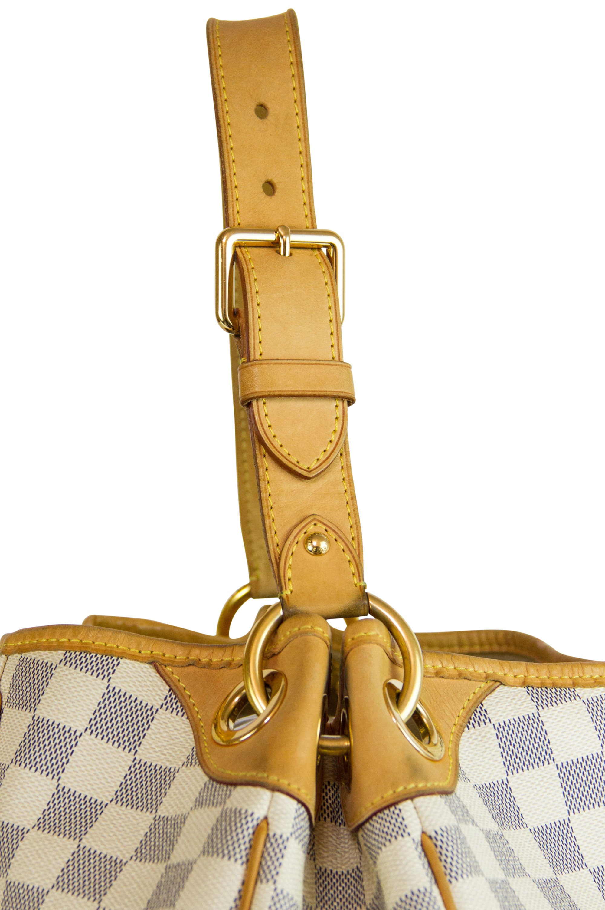 LOUIS VUITTON Damier Azur Galliera Bag