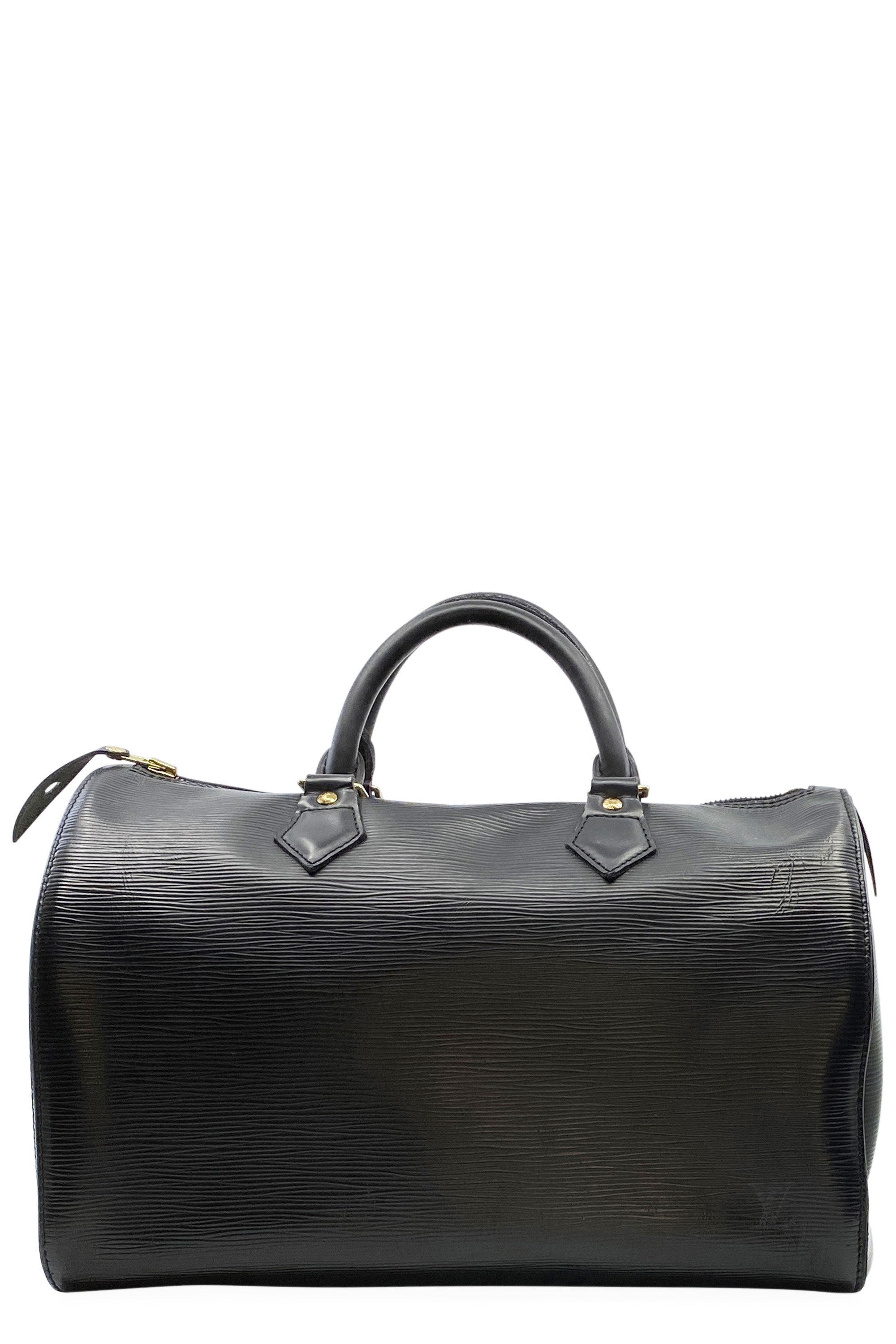 LOUIS VUITTON Speedy 30 Epi Black Frontansicht