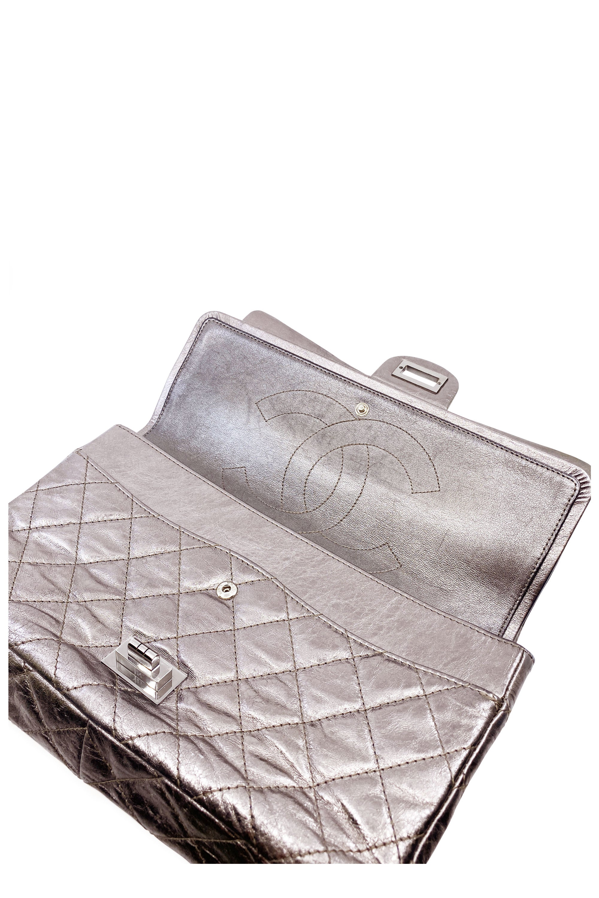 CHANEL 2.55 Reissue Silver