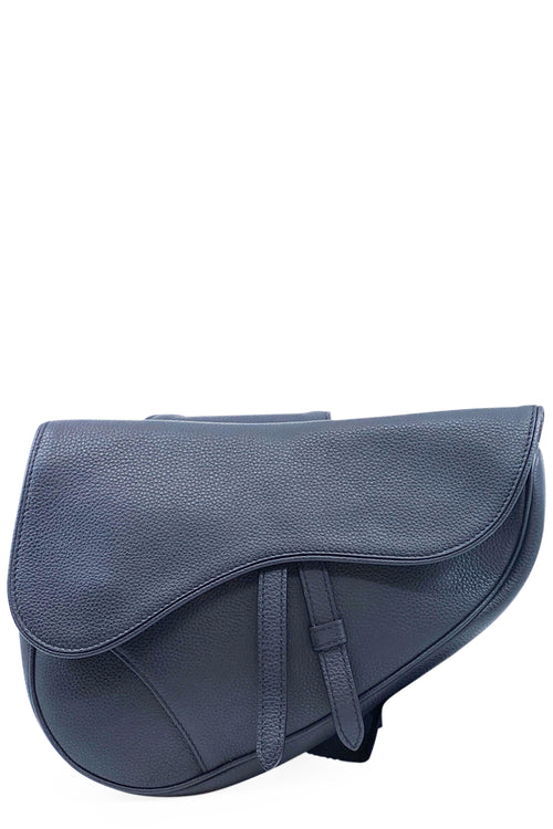 CHRISTIAN DIOR Saddle Bag Crossbody Blue