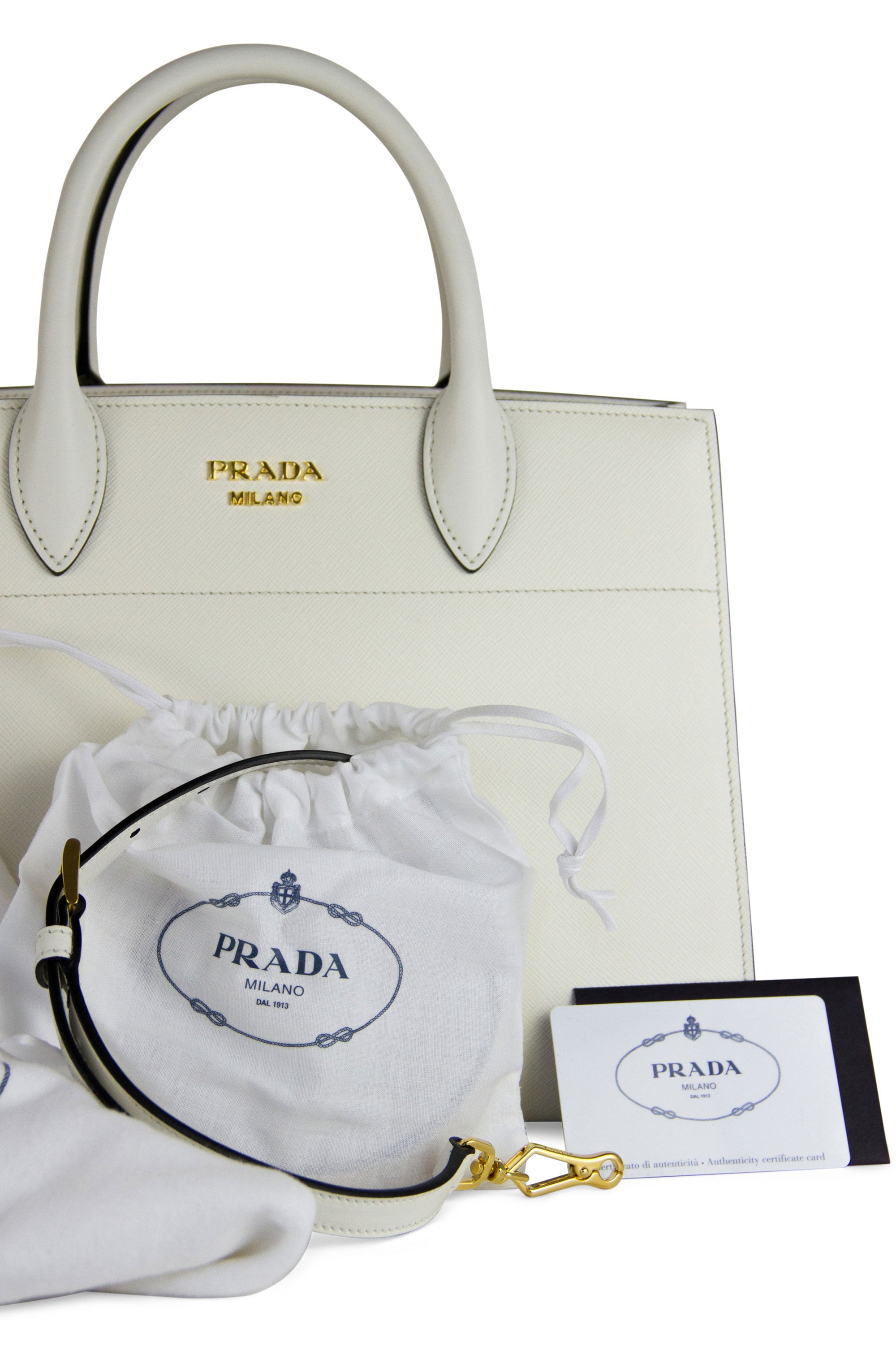 Prada Saffiano City Bibliotheque Bag Dustbag Zertifikat