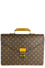 Louis Vuitton Vintage Monogram Briefcase Frontalansicht