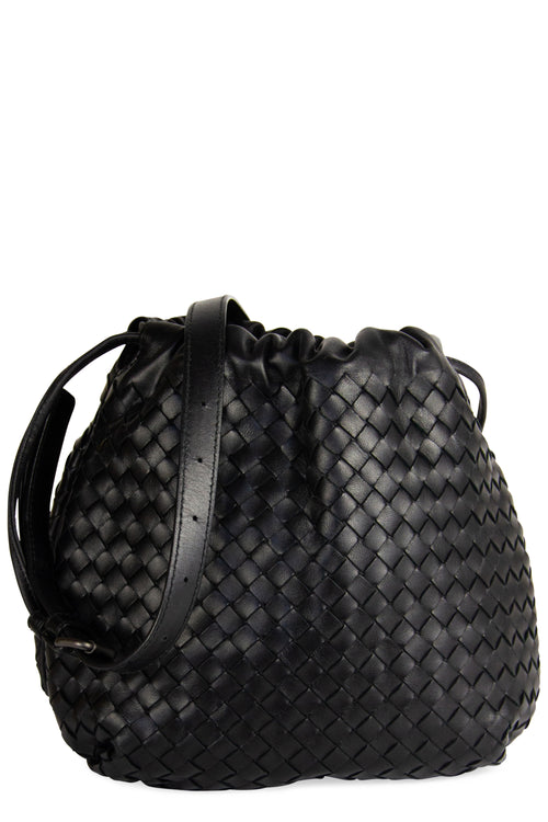 Bottega Veneta Bucket Bag Black Frontalansicht