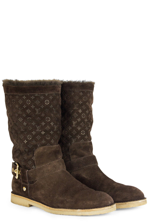 Louis Vuitton Boots Monogram Sheep Lammfell