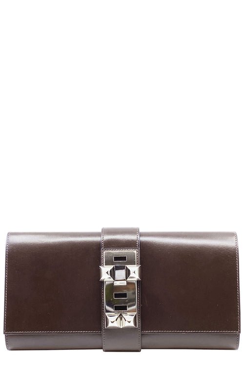 HERMÈS Médor Clutch Brown