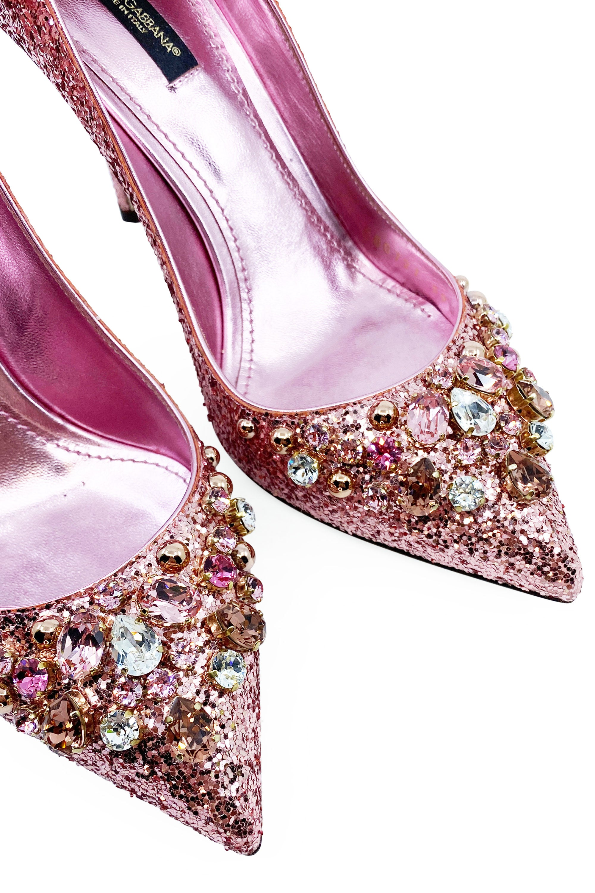 DOLCE&GABBANA Glitter Pumps Rose