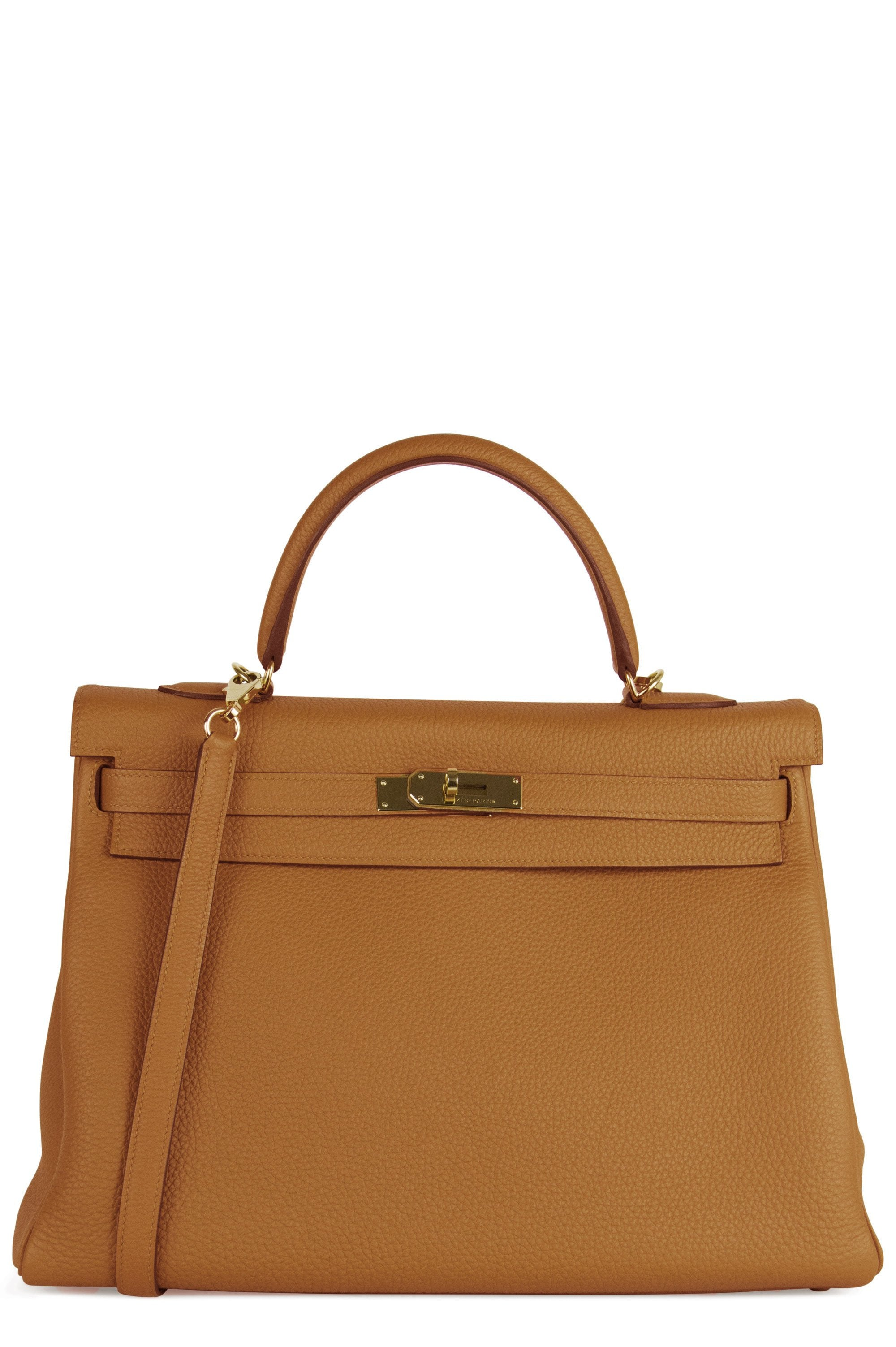 Hermès Kelly 35 Bag Caramel Togo Leather Frontalansicht