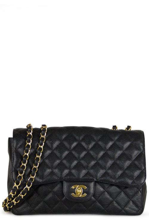 CHANEL Jumbo Caviar Flap Bag