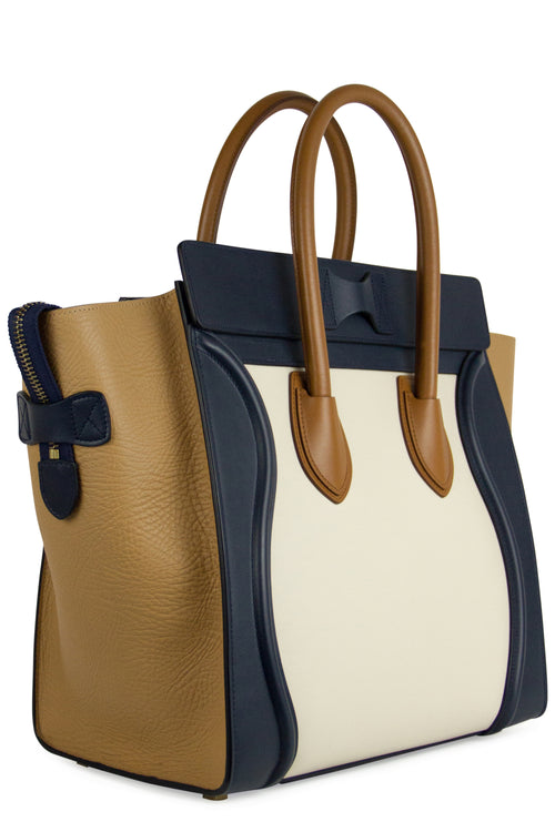 CÉLINE Mini Luggage Tricolor Bag