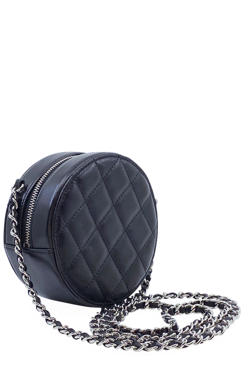 CHANEL Round Crossbody Bag Black