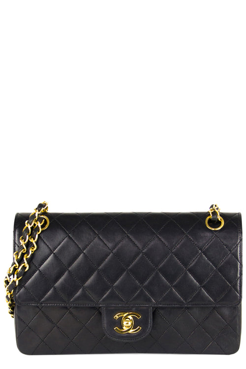 Chanel Vintage Double Flap Bag Medium Coco Frontansicht