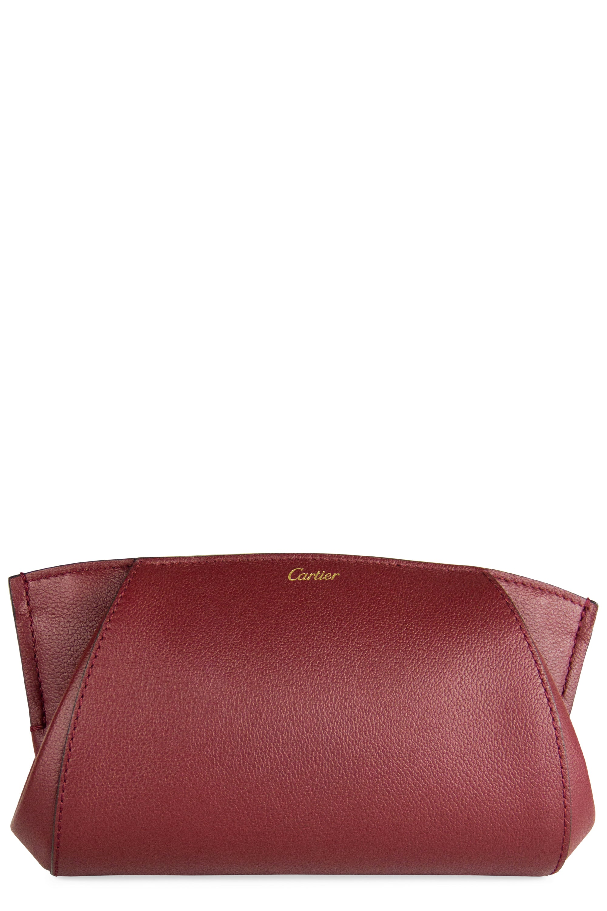 Cartier Clutch Frontalansicht Bordeaux