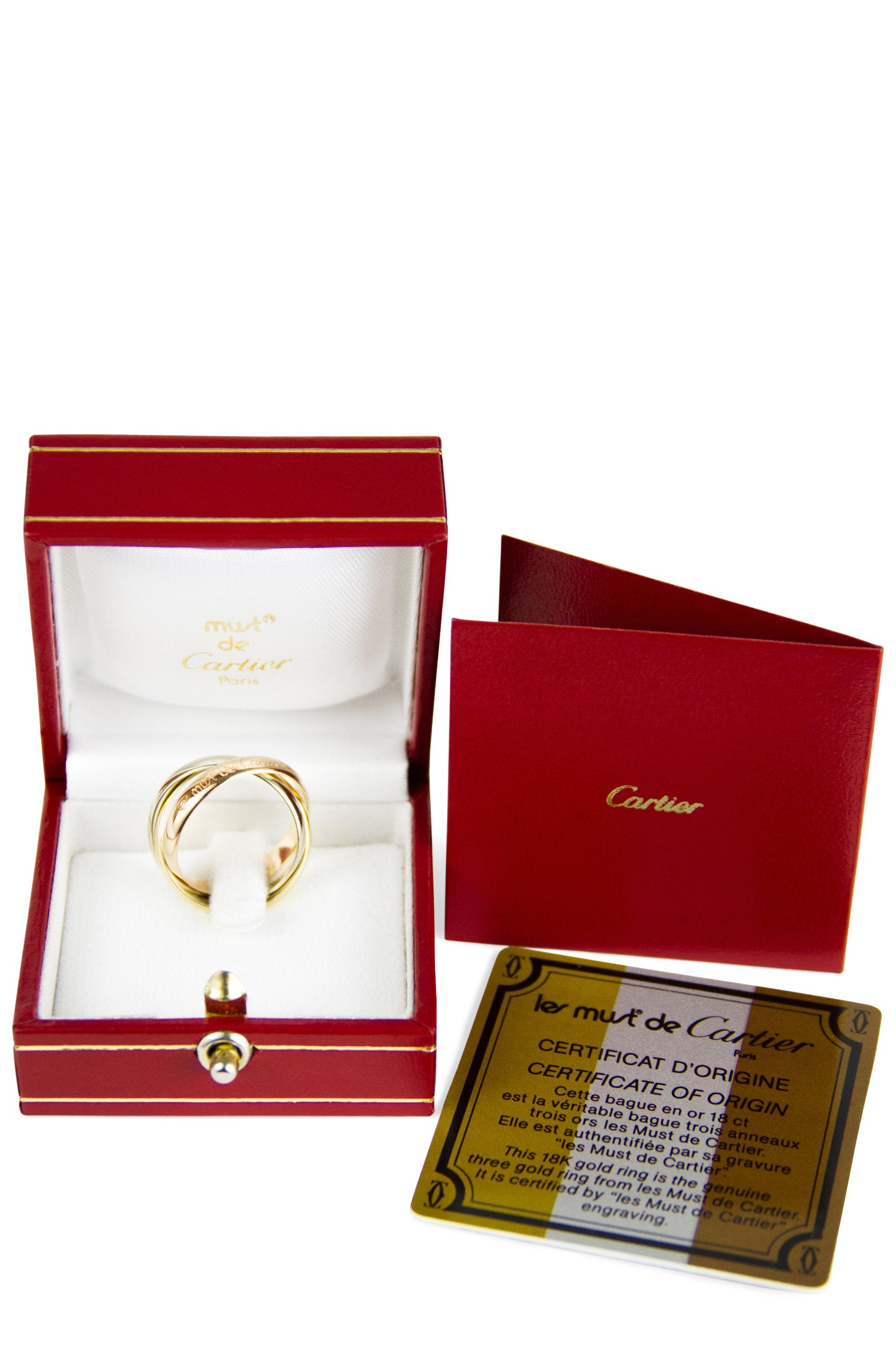 Cartier Trinity Ring Klassisch Full Set