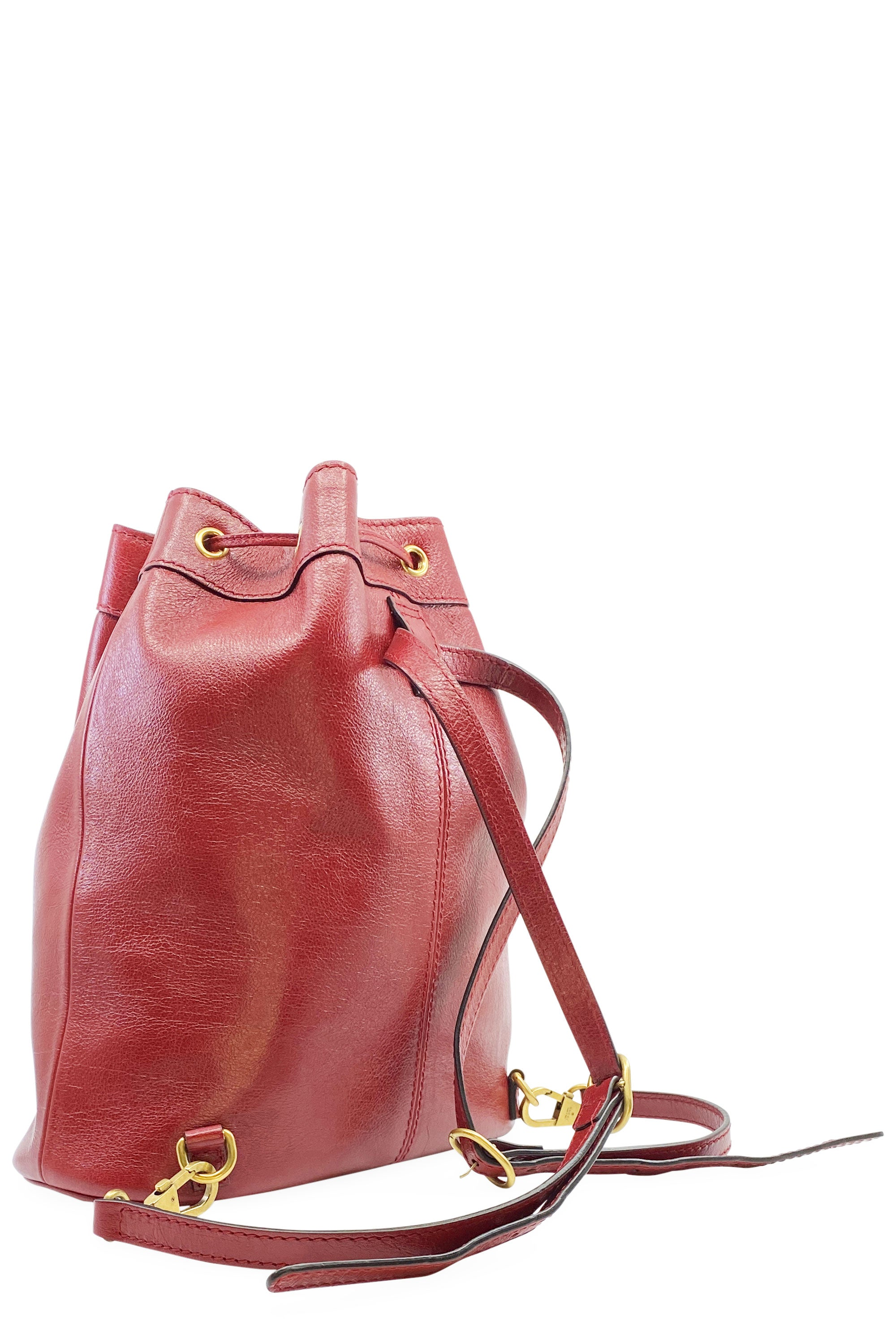 GUCCI Rebelle Bucket Backpack Medium Romantic Cerise