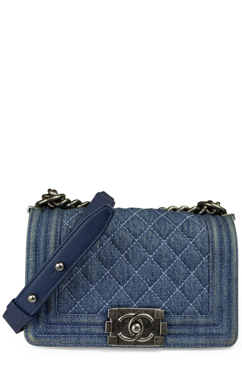CHANEL Boy Bag Denim