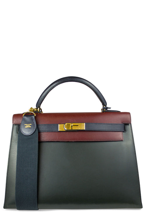 HERMÈS Kelly 33 Tasche Tri Color