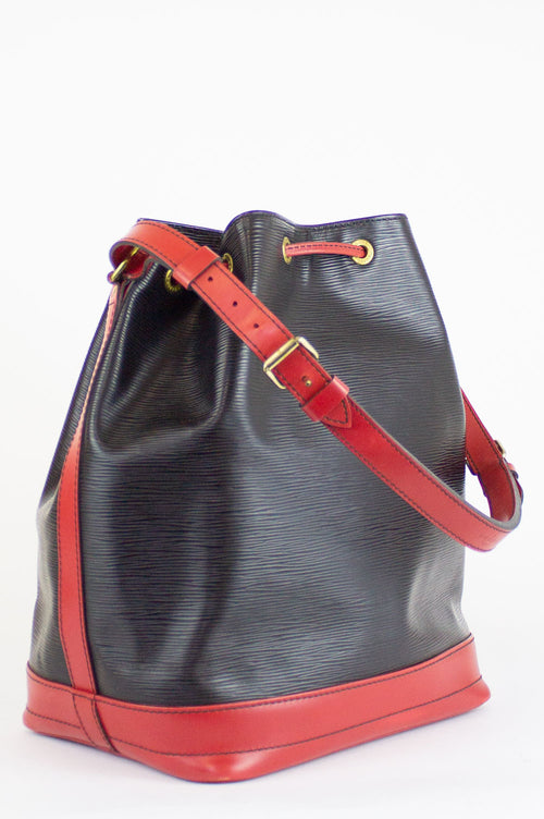 LOUIS VUITTON Grand Sac Noé Schwarz-Rot Epi
