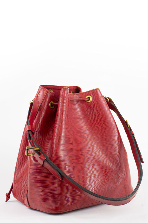 LOUIS VUITTON Petit Sac Noé Red