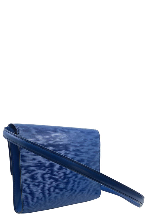LOUIS VUITTON Osh Bag Epi Leder Blau