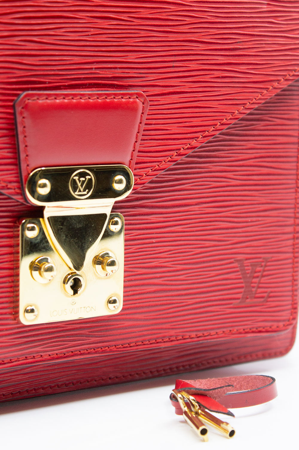LOUIS VUITTON Monceau Bag Red
