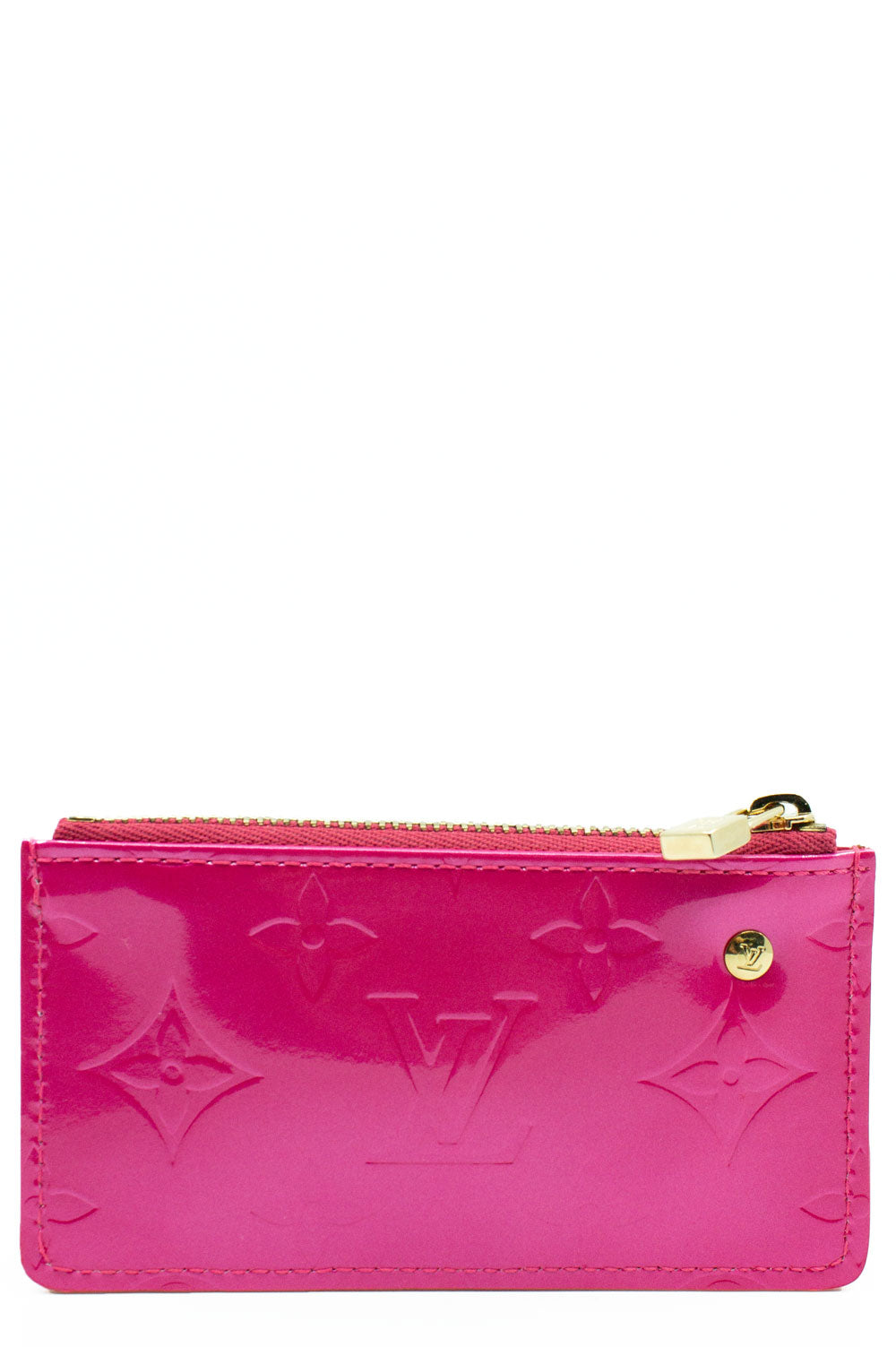 Louis Vuitton Pink Vernis Leather Key PoucheFrontalansicht