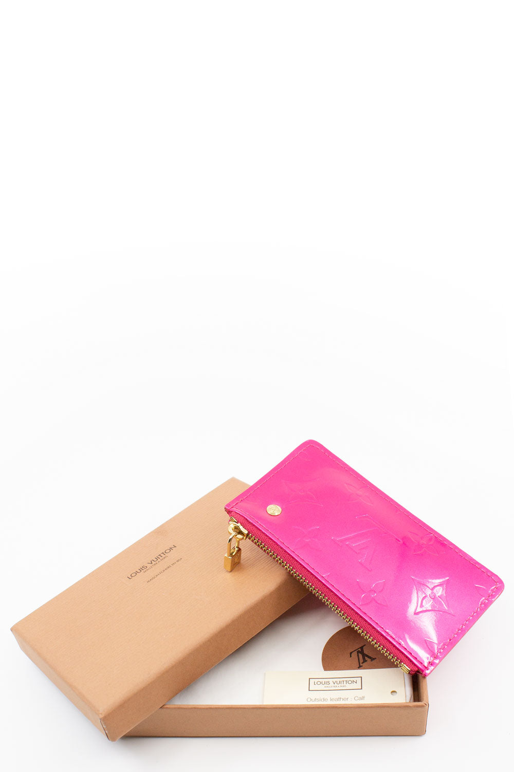 Louis Vuitton Pink Vernis Leather Key Pouche