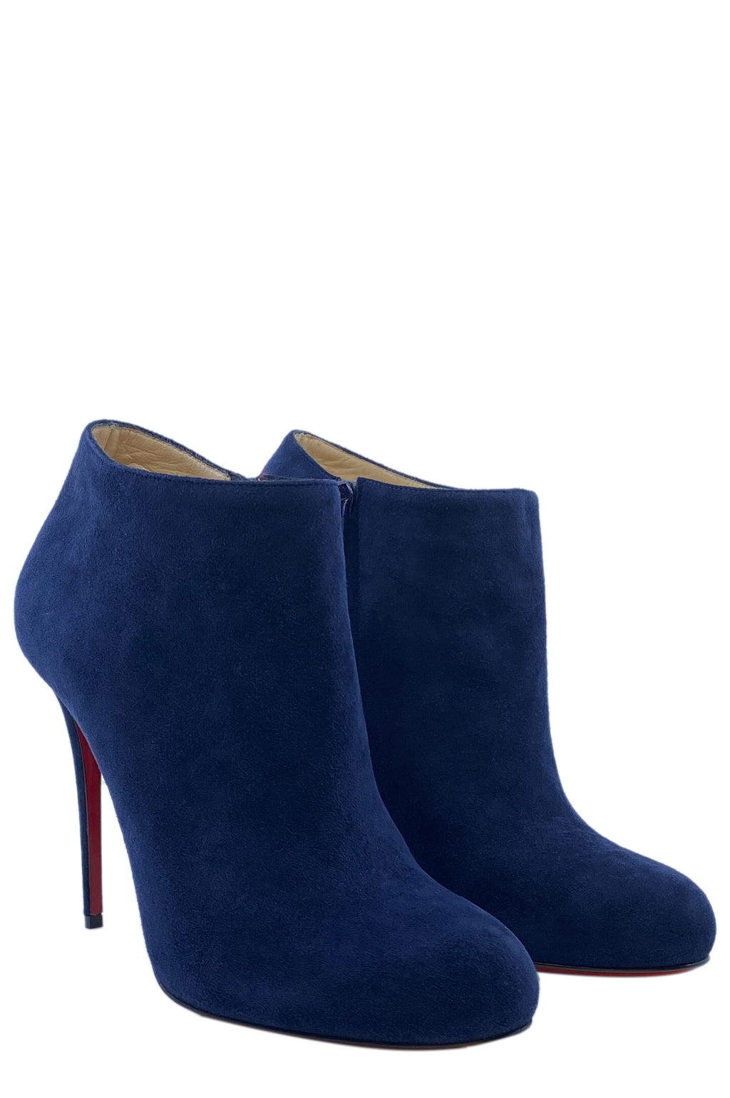 CHRISTIAN LOUBOUTIN Ankle Boots Suede Blue