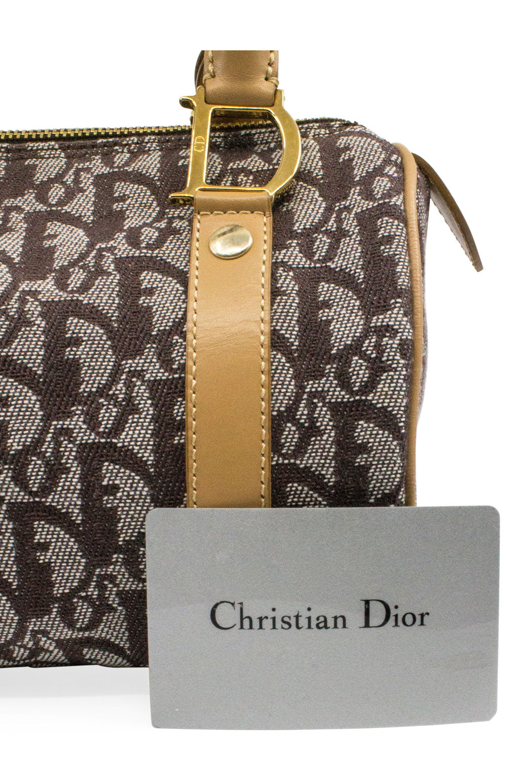 CHRISTIAN DIOR Mini Boston Bag Brown
