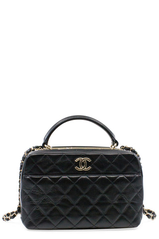 CHANEL Vintage Crossbody Flap Bag Black