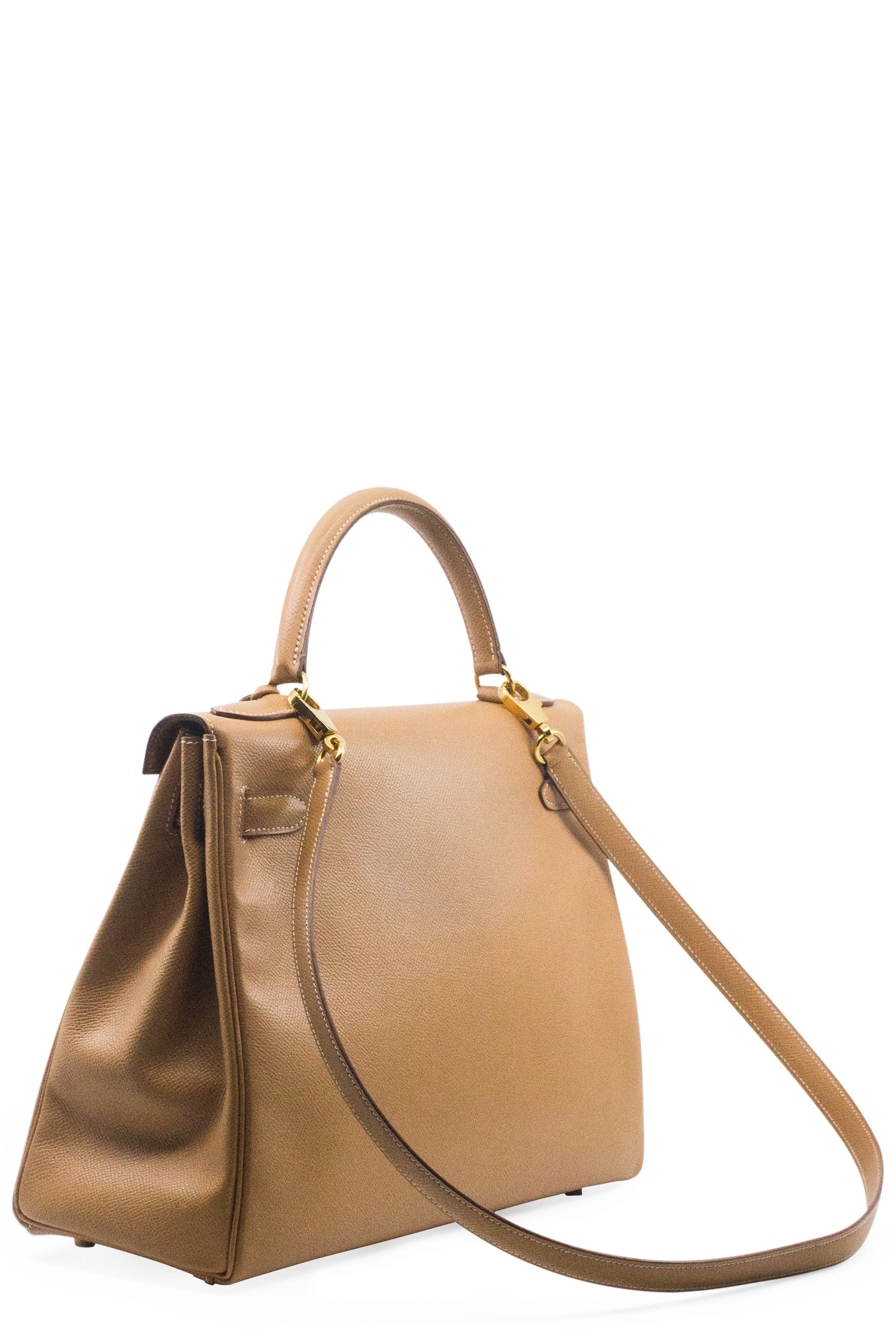 HERMÈS Kelly Retourené 32 Epsom Leather Beige