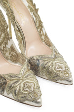 OSCAR DE LA RENTA Pumps Gold Applications
