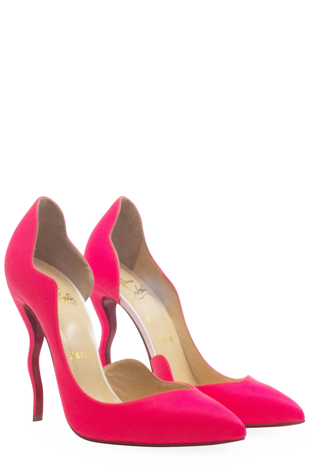 Christian Louboutin Neon Pink Dalida Fluo Matte Curve Heel