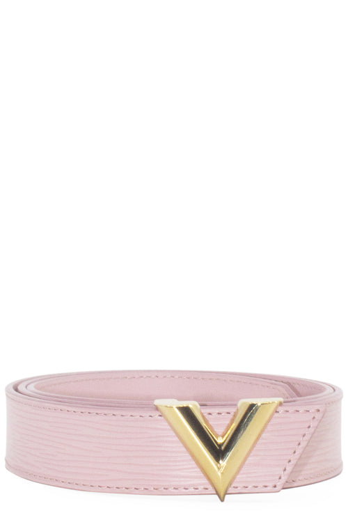 LOUIS VUITTON Belt Essential V Epi Rose Frontansicht