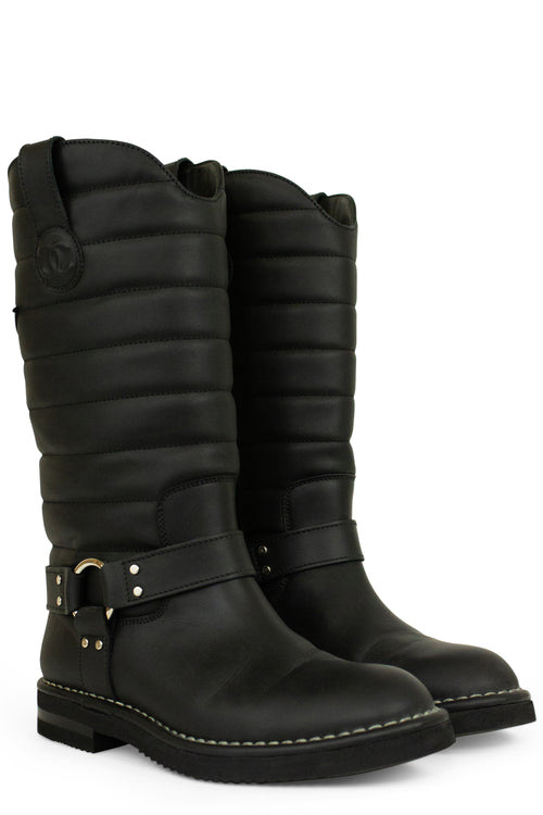 CHANEL Dallas Moto Star Biker Boots