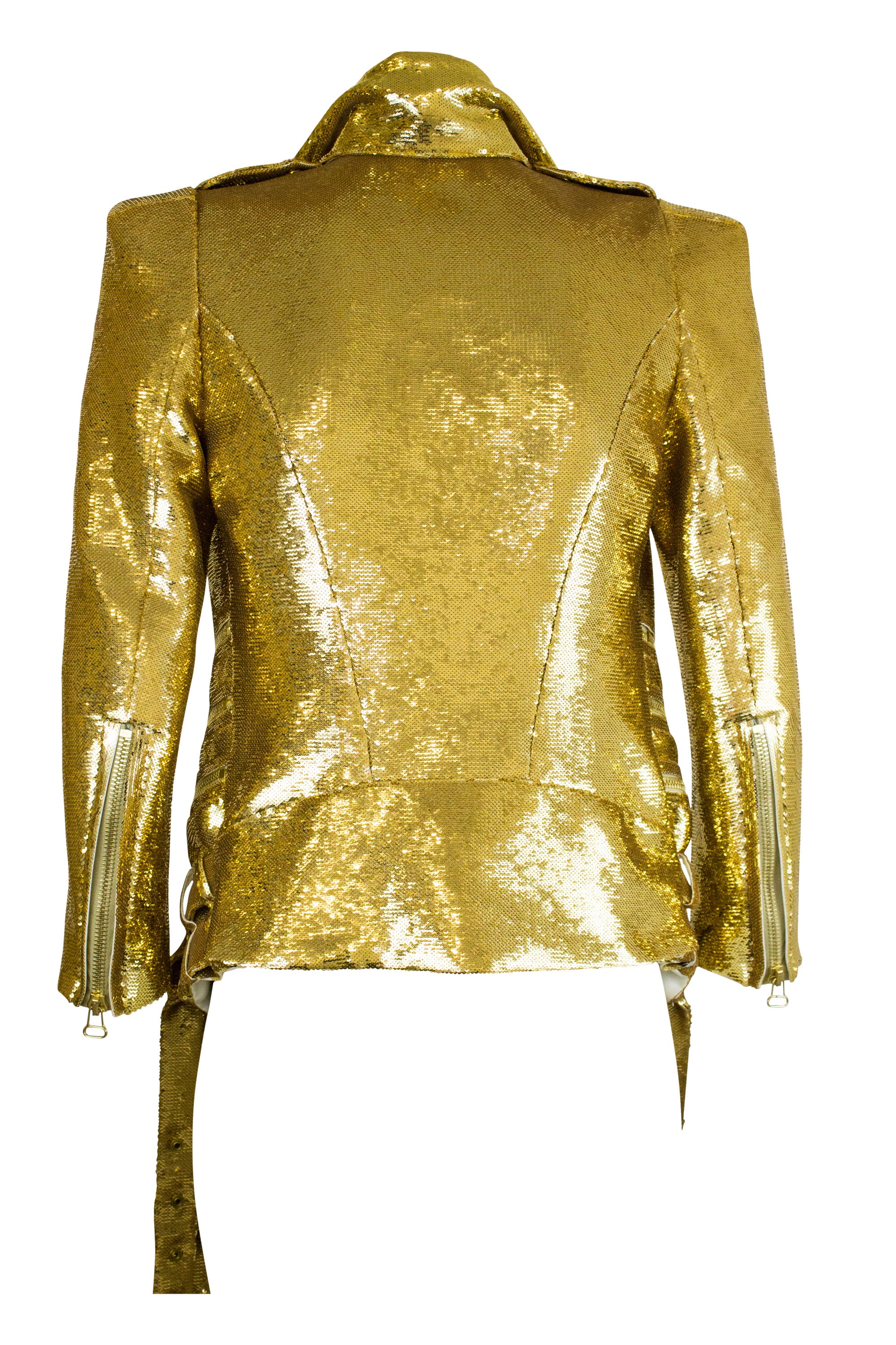 BALMAIN Sequin Jacket Gold