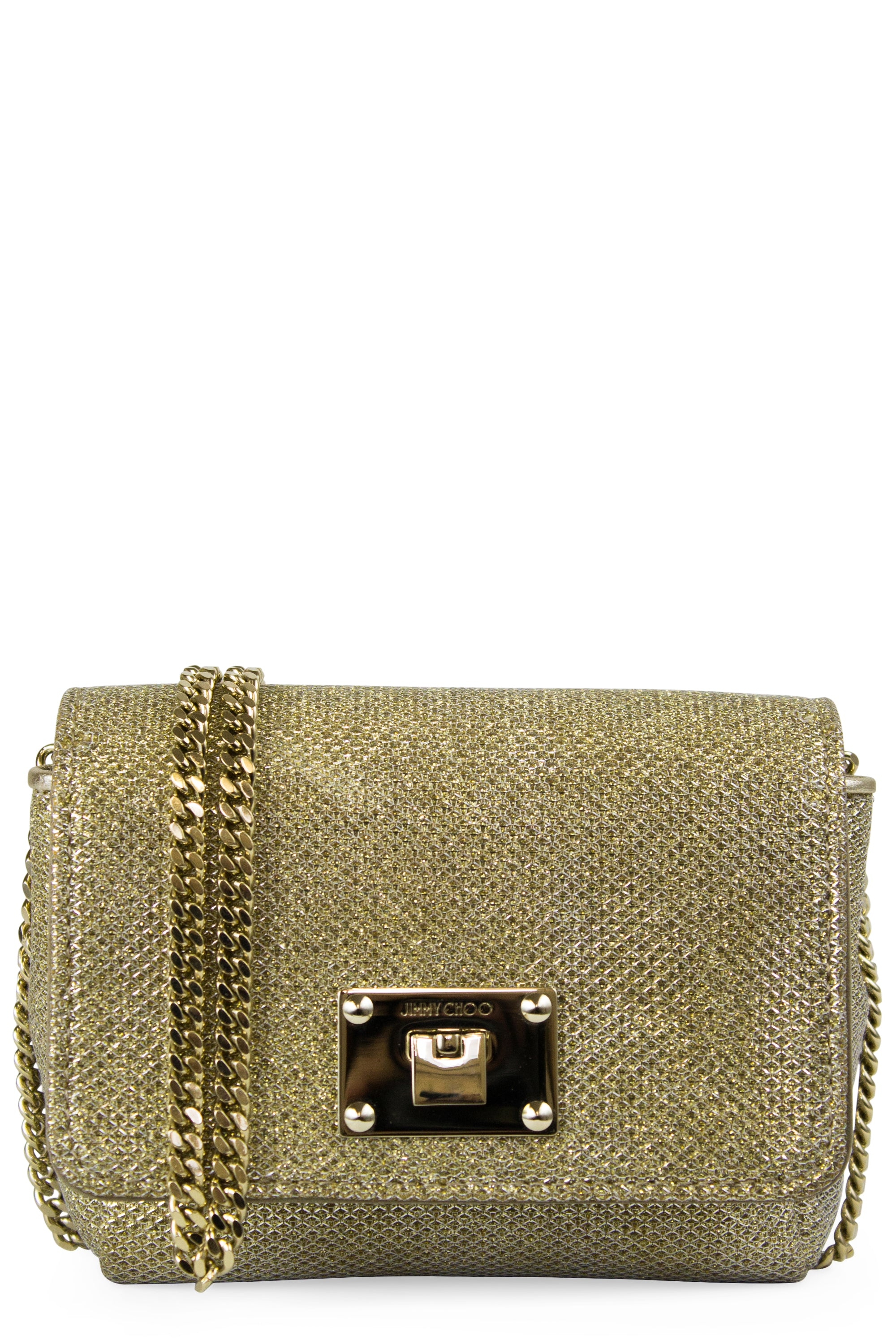 JIMMY CHOO Metallic Mini Ruby Lamé Glitter Crossbody Bag