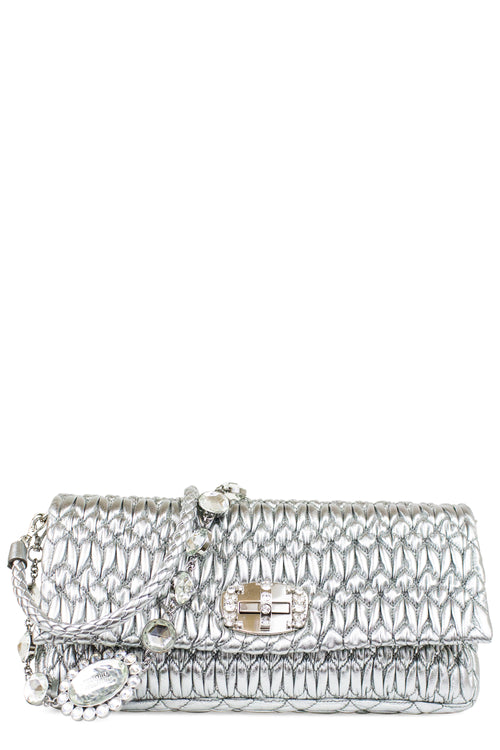 MIU MIU Nappa Crystal Shoulder Bag