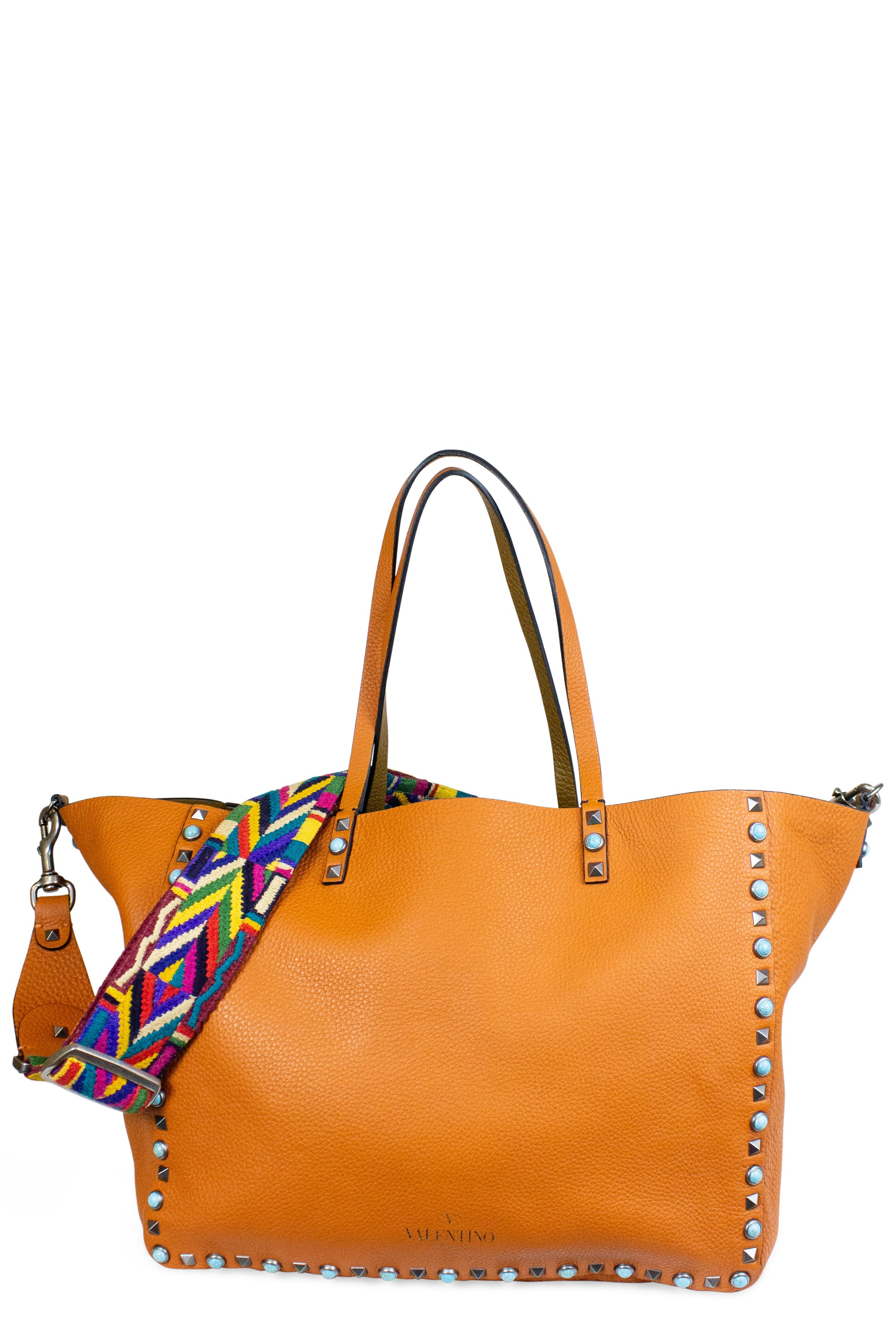 Valentino Rockstud Reversible Native Couture Tote