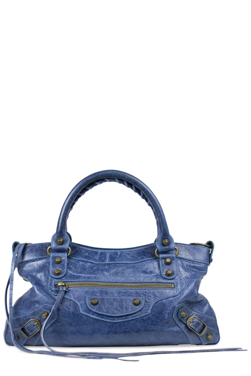Balenciaga City Bag Small Blau