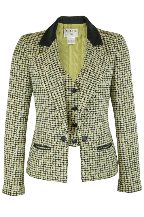 Chanel Blazer Secondhand Veste Tweed Frontansicht