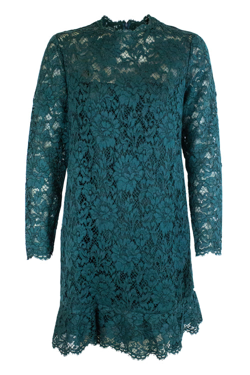 VALENTINO Lace Dress Green