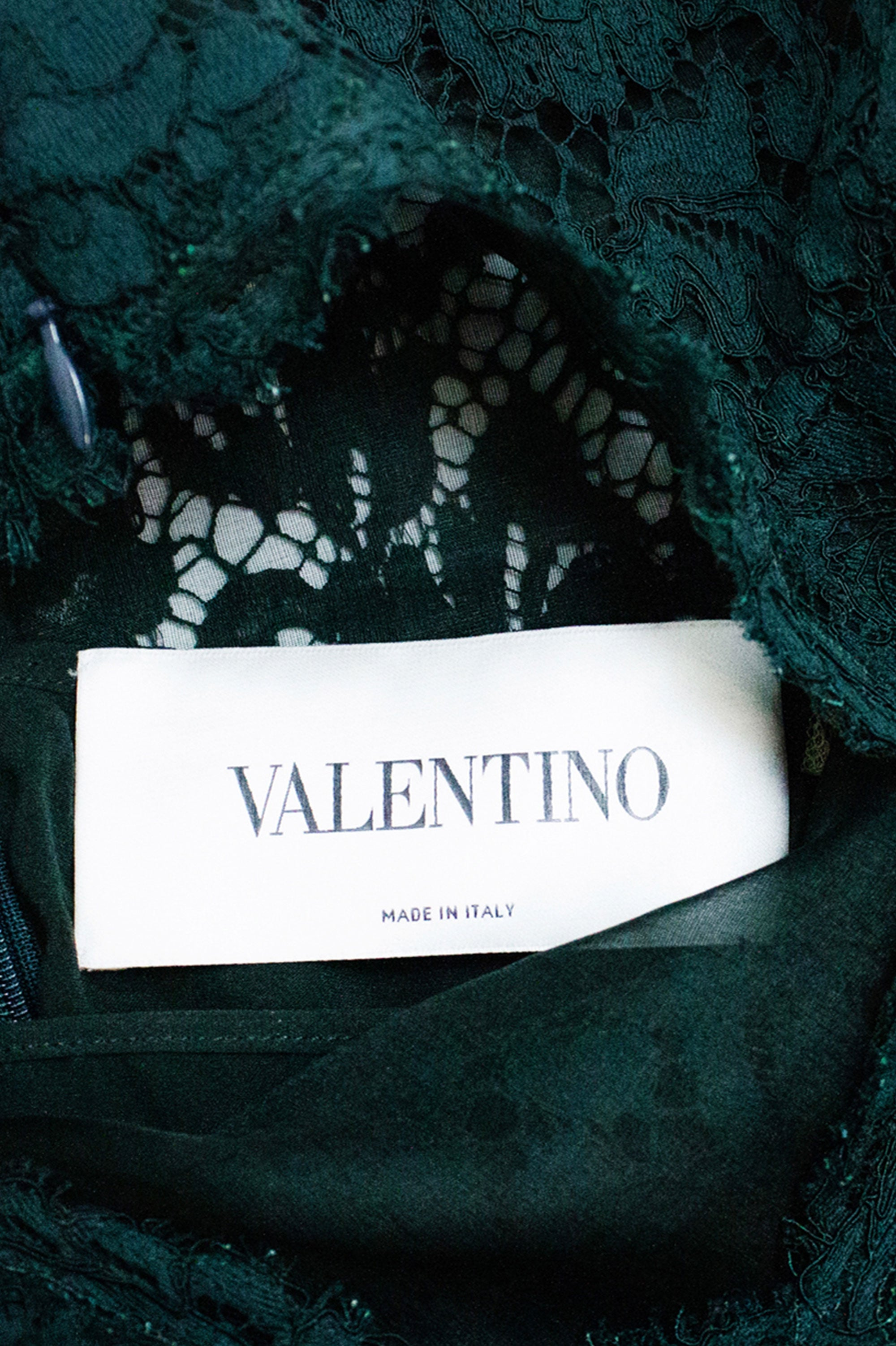 VALENTINO Lace Tannengrün Dress